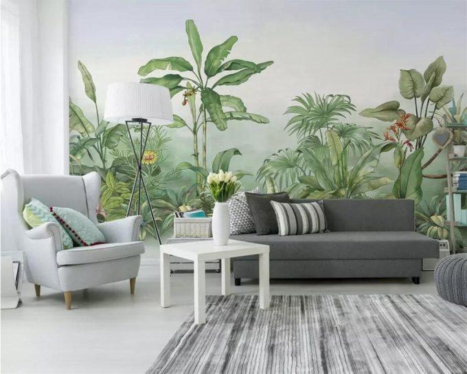 Le papier peint végétal mural