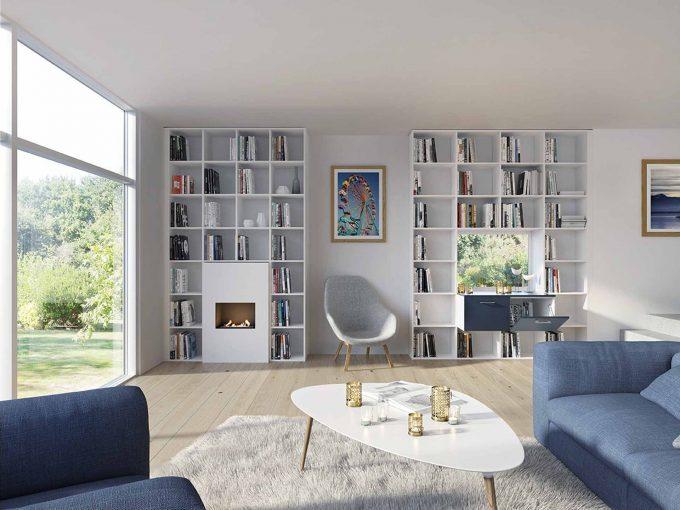 Les différents types de bibliothèques pour le salon