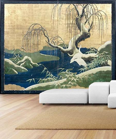 Le papier peint japonais