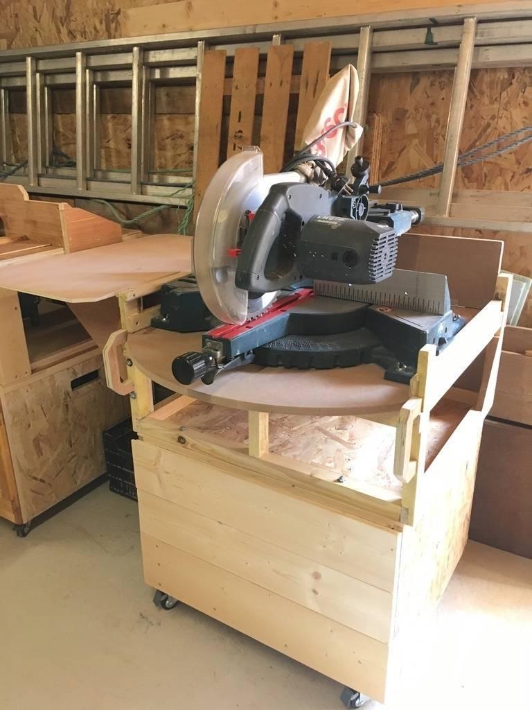 Une scie pour la création de meubles en bois