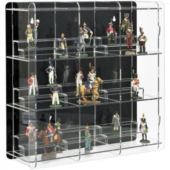 armoire flottante en verre pour figurine
