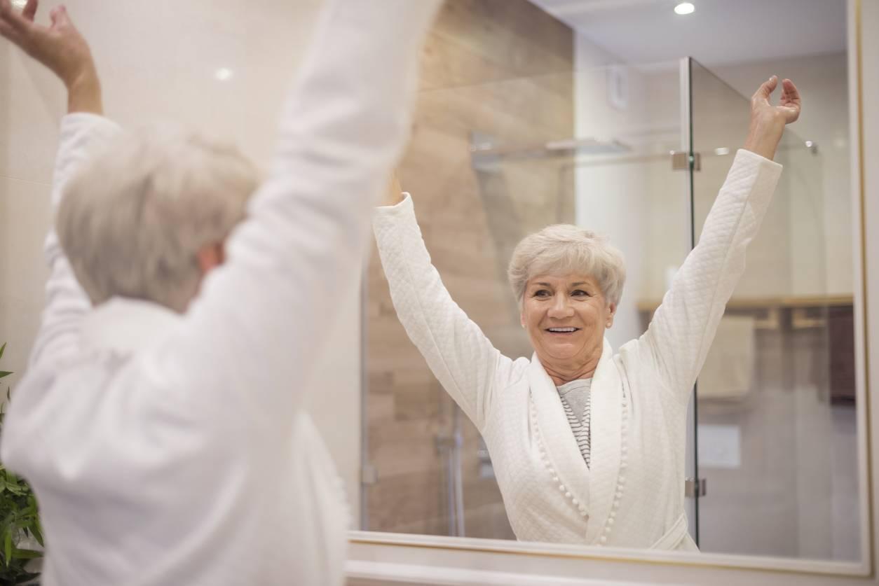 douche à l'italienne, idéale pour les seniors