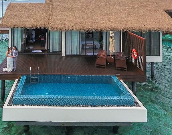 mini piscine en béton