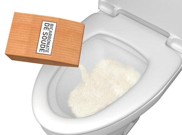 Comment déboucher des toilettes avec du bicarbonate de soude ?