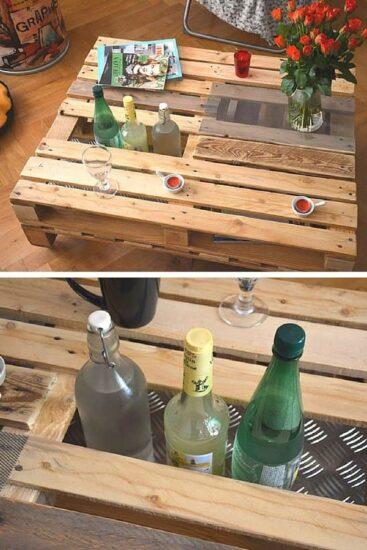 table basse en palettes de bois